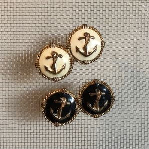 Two pair of nautical EARRINGS